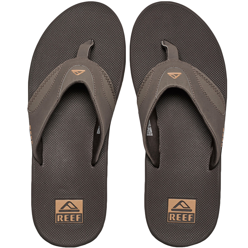 Reef Fanning Flip Flops - Brown Gum