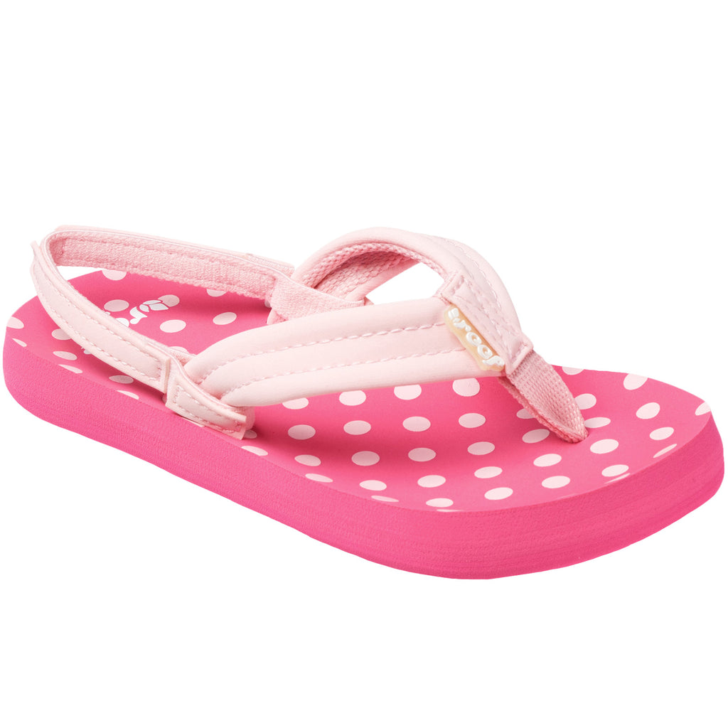 Reef Little Ahi Kids Girls Sandals - Pink Polka