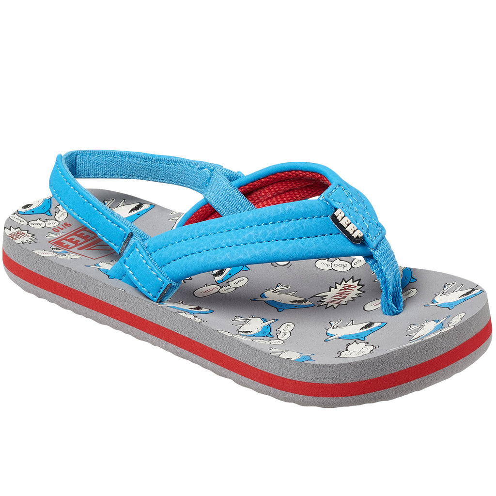 Reef Little Ahi Kids Boys Sandals - Grey Blue
