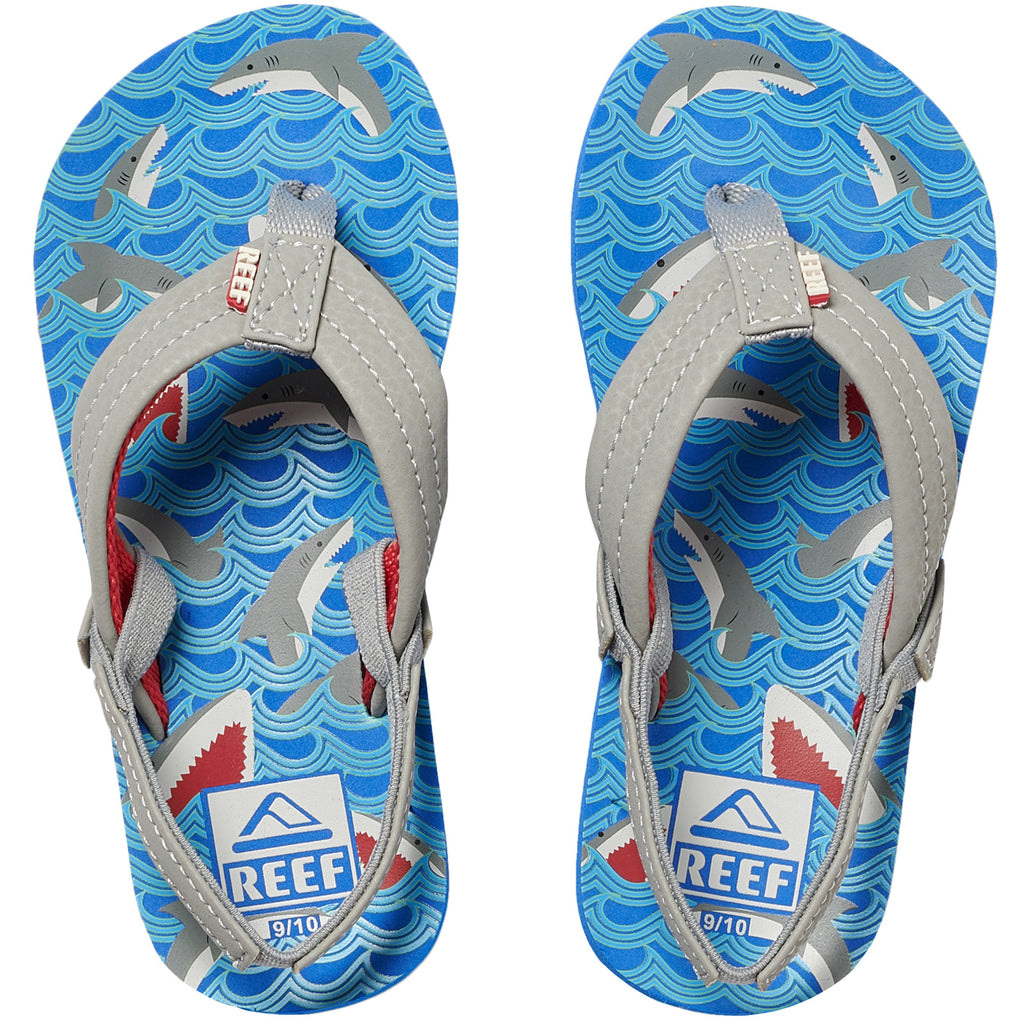 Reef Little Ahi Kids Boys Sandals - Blue Shark