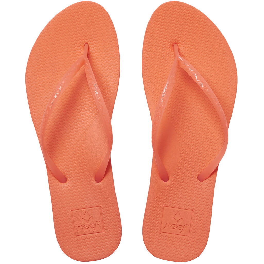 Reef Womens Escape Lux Flip Flops Thongs Sandals - Coral