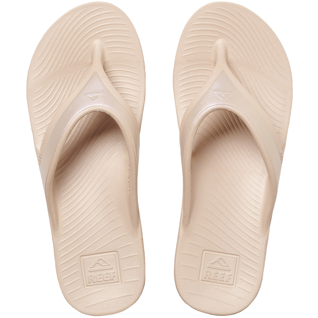 Reef Womens One Pool Flip Flops Thongs Sandals - Sand