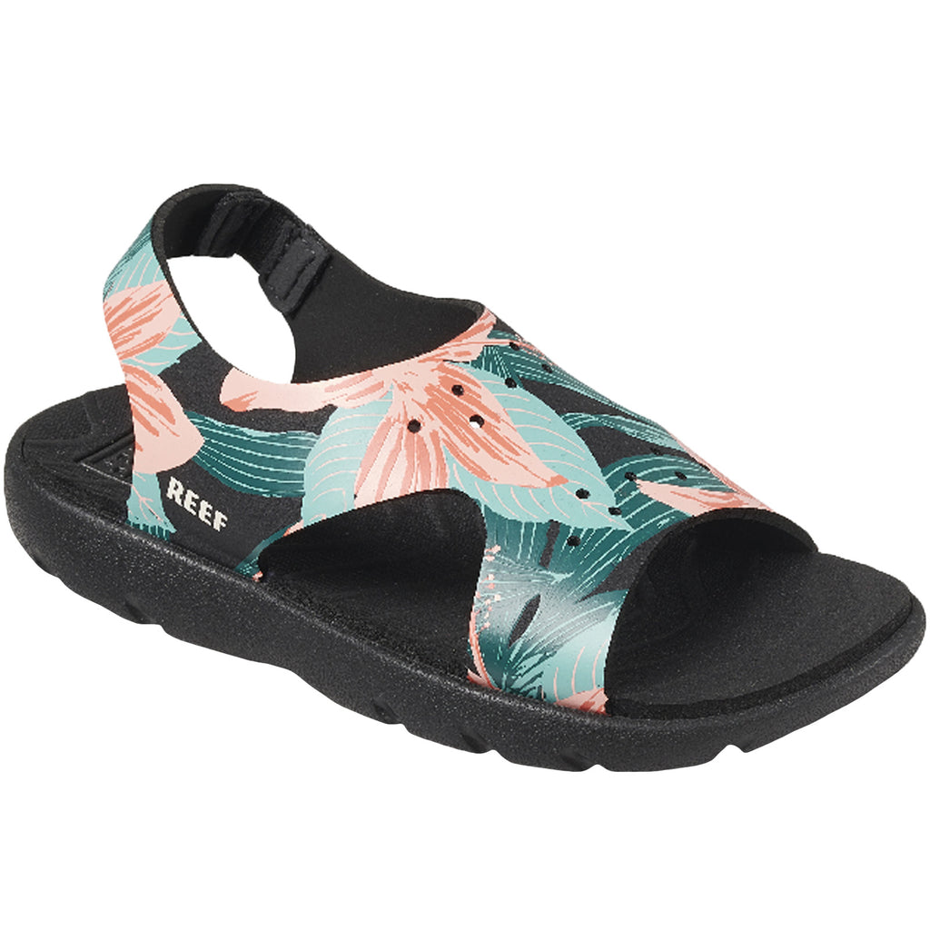 Reef Little Beachy Kids Girls Sandals Black