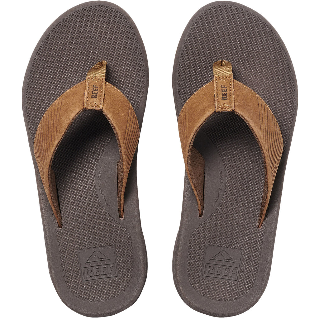 Reef Mens Leather Phantom II Sandals - Bronze