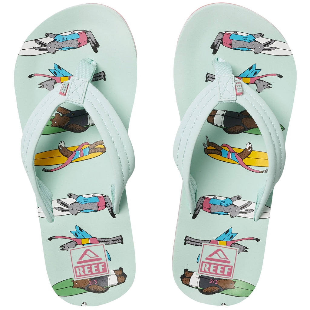 Reef Kids Childrens Jonas Claesson Flip Flops Thongs Sandals - Multicoloured