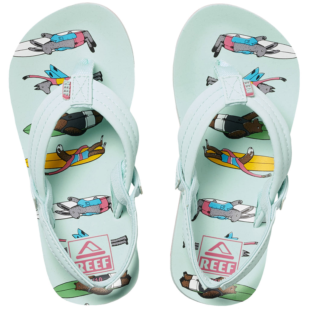 Reef Kids Infants Jonas Claesson LIL Flip Flops Thongs Sandals - Multicoloured