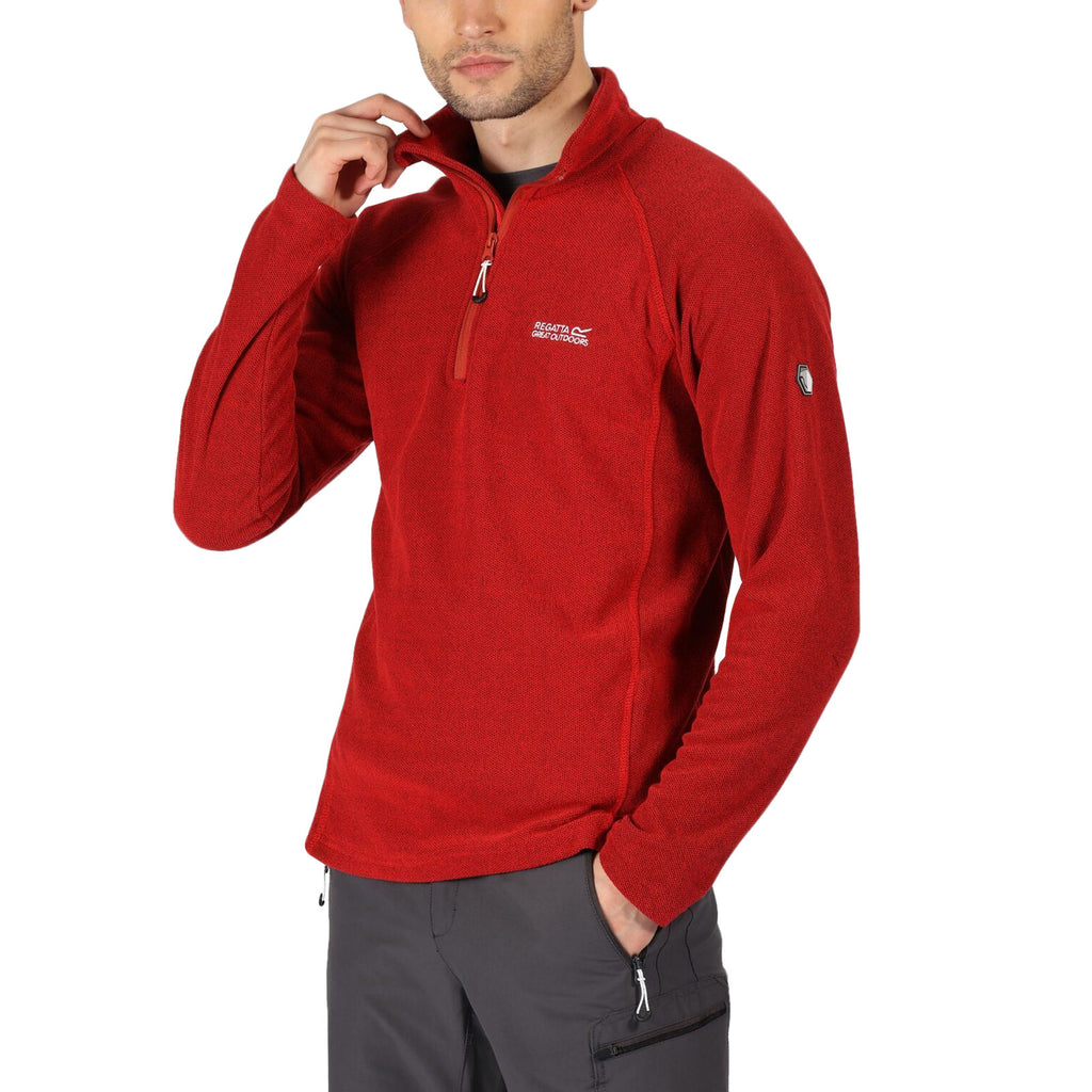 Regatta Mens Kenger Honeycomb Fleece - Red