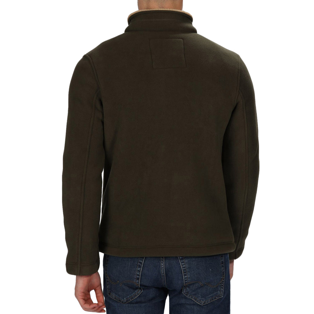 Regatta Mens Garrian Sherpa Lined Fleece Jacket - Dark Khaki