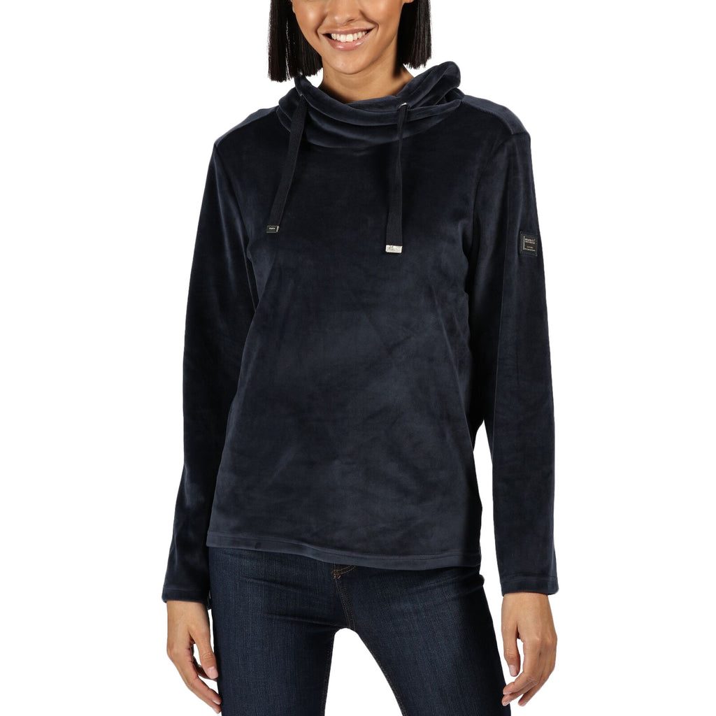 Regatta Womens Hannelore Fluffy Overhead Fleece Hoodie - Navy Velour