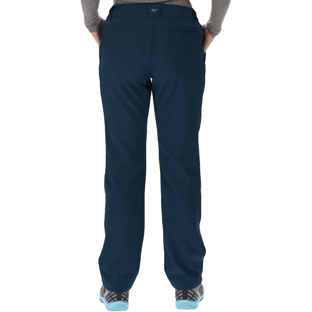 Regatta Womens Fenton Softshell Water Resistant Trousers - Navy
