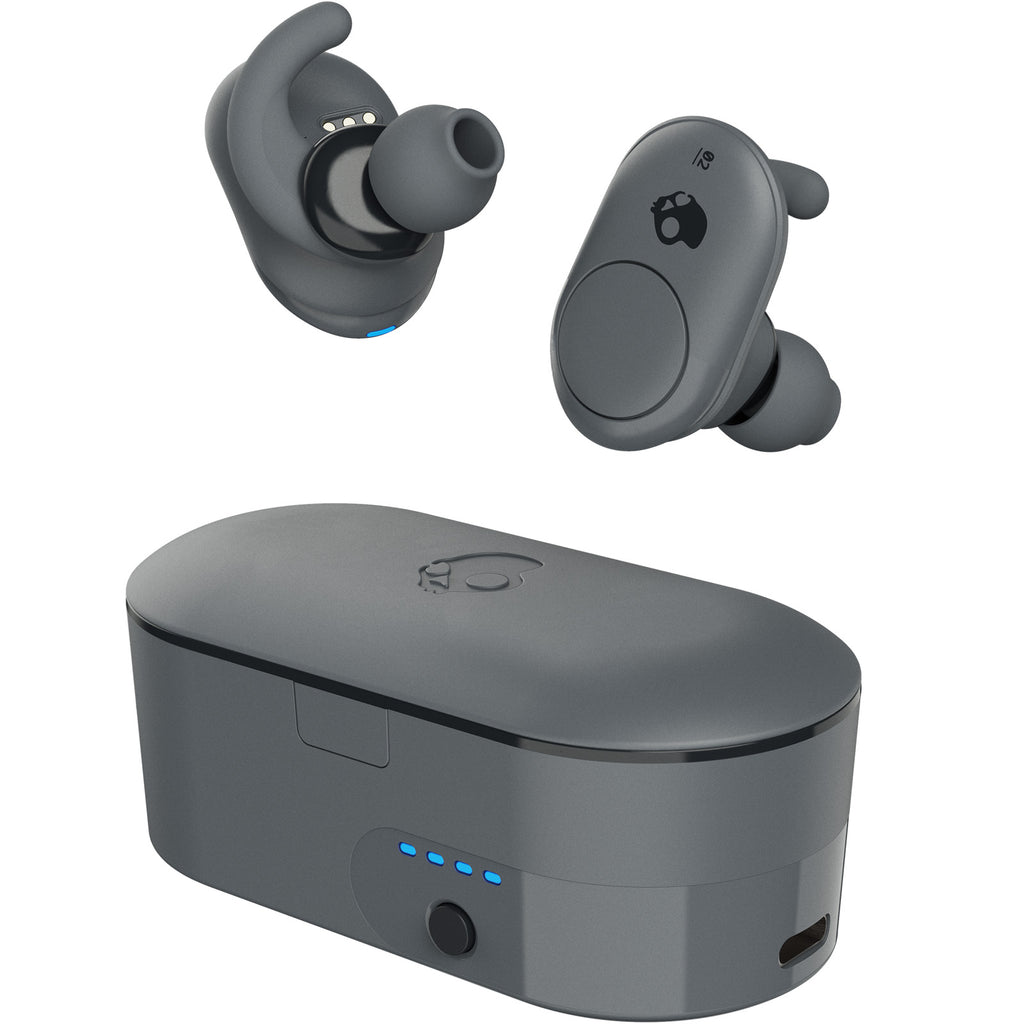 Skullcandy Push True Wireless In-Ear Earbuds With Charging Case - Grey