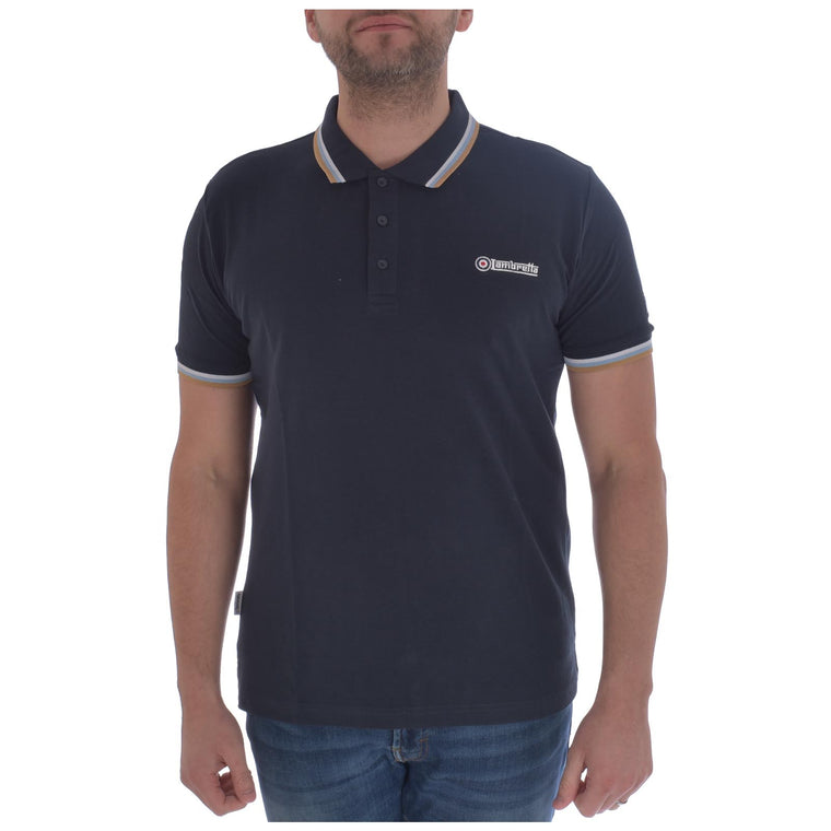 Lambretta Triple Tipped Pique Polo Shirt - Navy