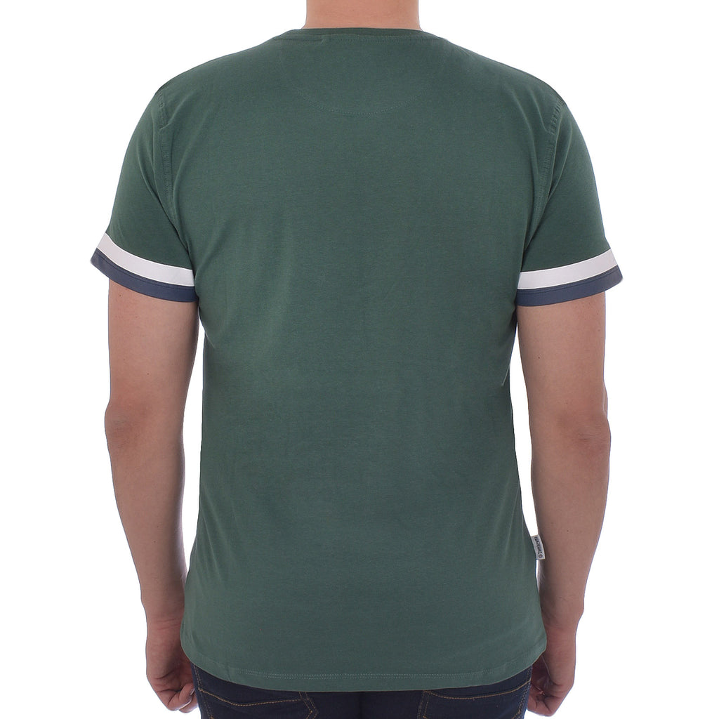 Lambretta Tipped Arm T-Shirt - Green