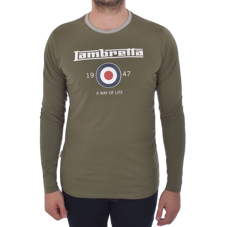 Lambretta Long Sleeve Ringer Tee - Port