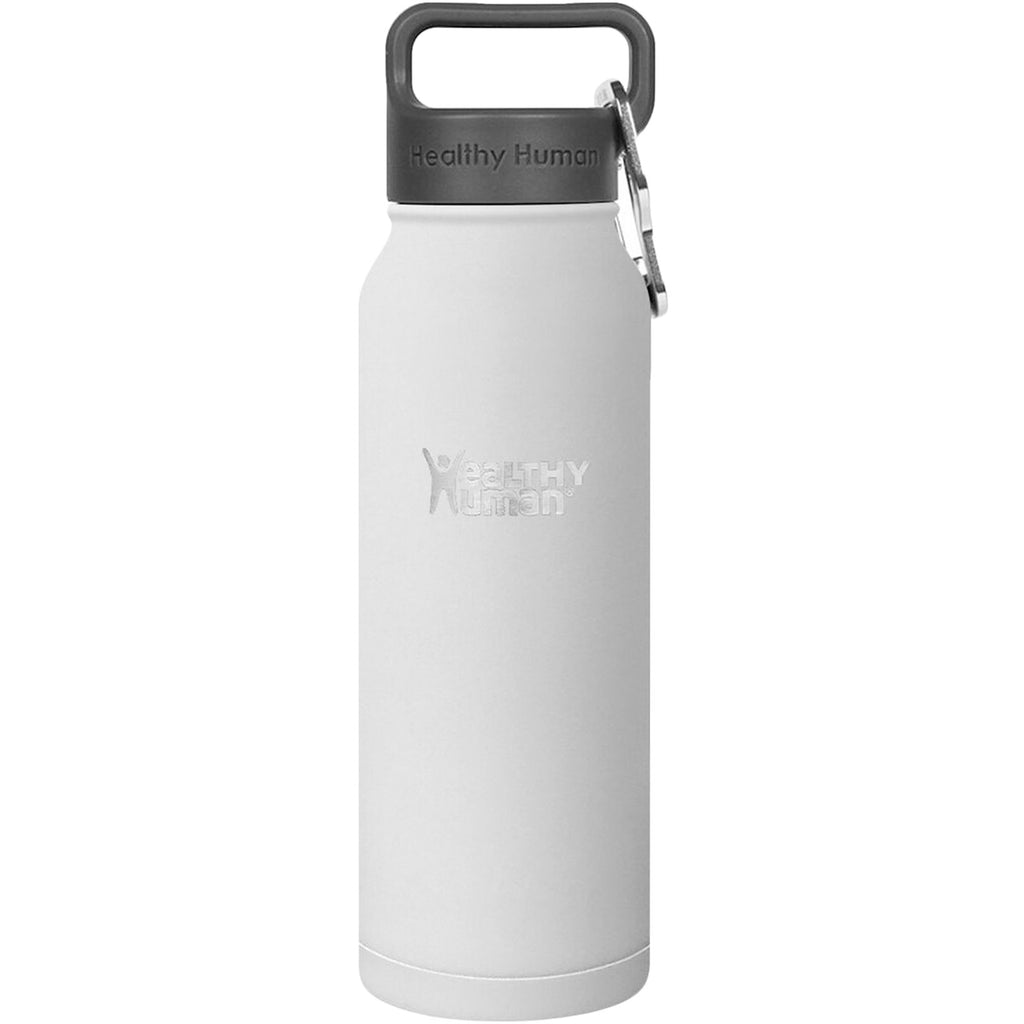 Healthy Human Stein Reusable Stainless Steel Water Bottle - Pure White - 21oz