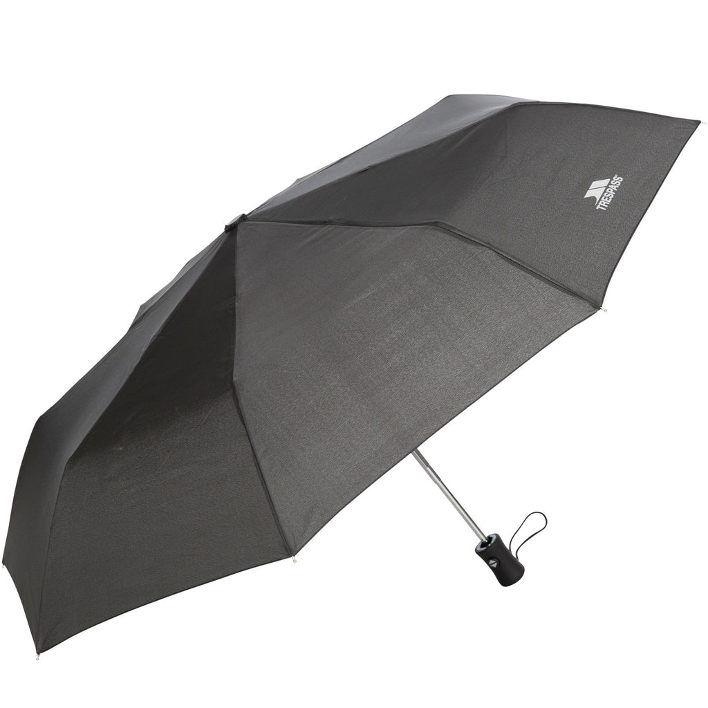 Trespass Unisex Adults Resistant Compact Soft Touch Handle Umbrella - Black
