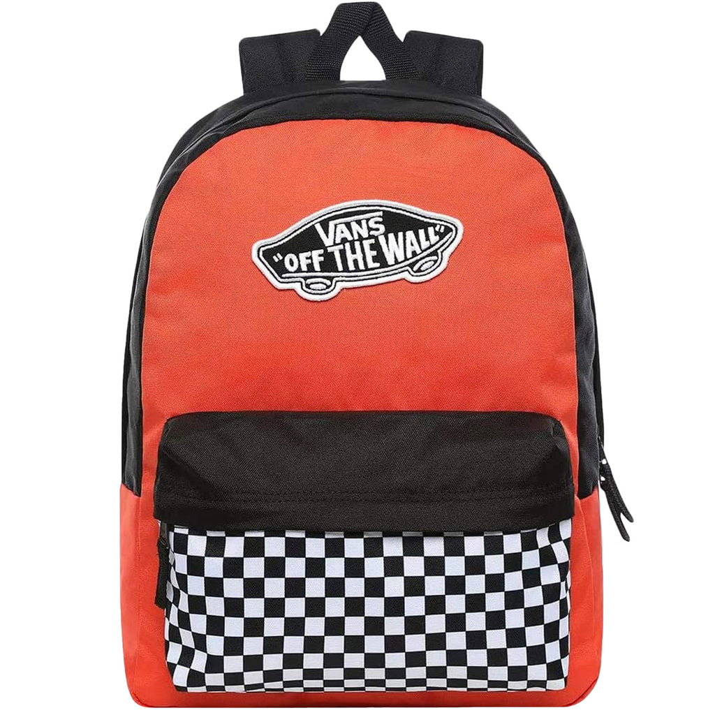 Vans Unisex Two Strap Realm Adjustable Backpack Paprika/Checkerboard