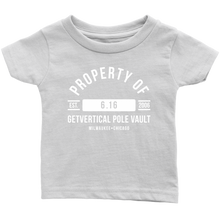 "Boy's Infant ""Property of GetVertical Pole Vault"" Tee"