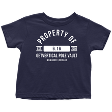 "Boy's Toddler ""Property of GetVertical Pole Vault"" Tee"