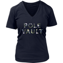 W's Pole Vault Flowers V-Neck Tee