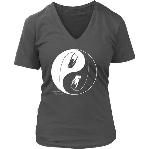 W's Pole Vault Ying & Yang V-Neck Tee