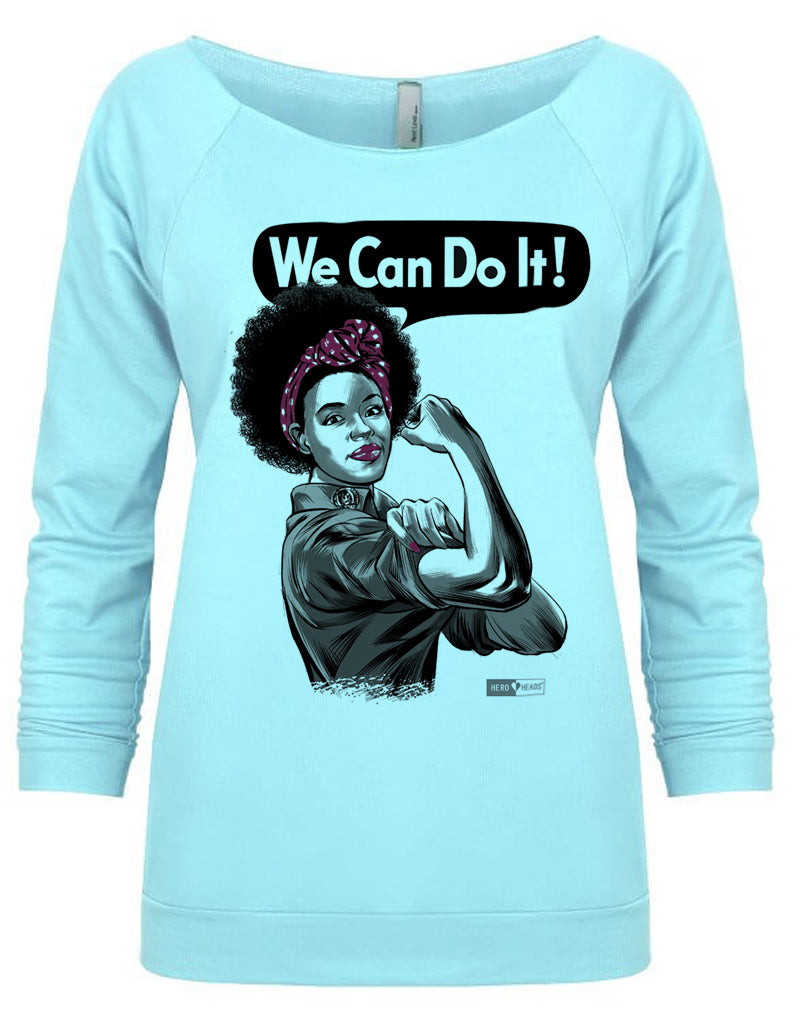 Rosie the Riveter - African American - Women's 3/4-Sleeve Flashdance Shirt