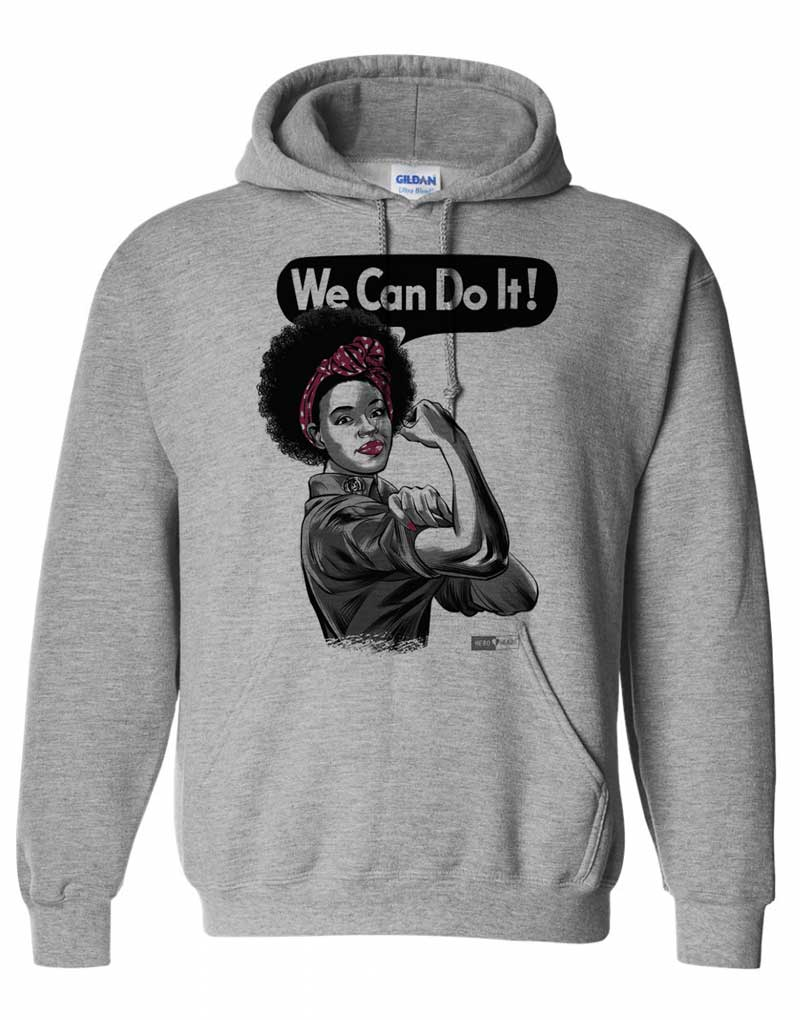Rosie the Riveter - African American - Unisex Hooded Sweatshirt