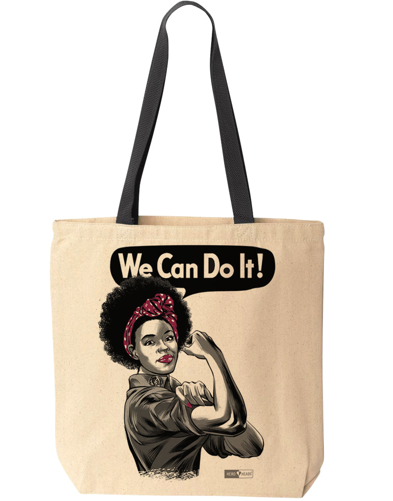Rosie the Riveter - African American - Tote Bag