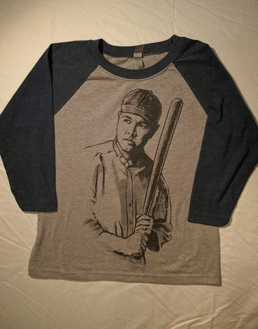 Babe Ruth - Youth Unisex 3/4 Baseball tee