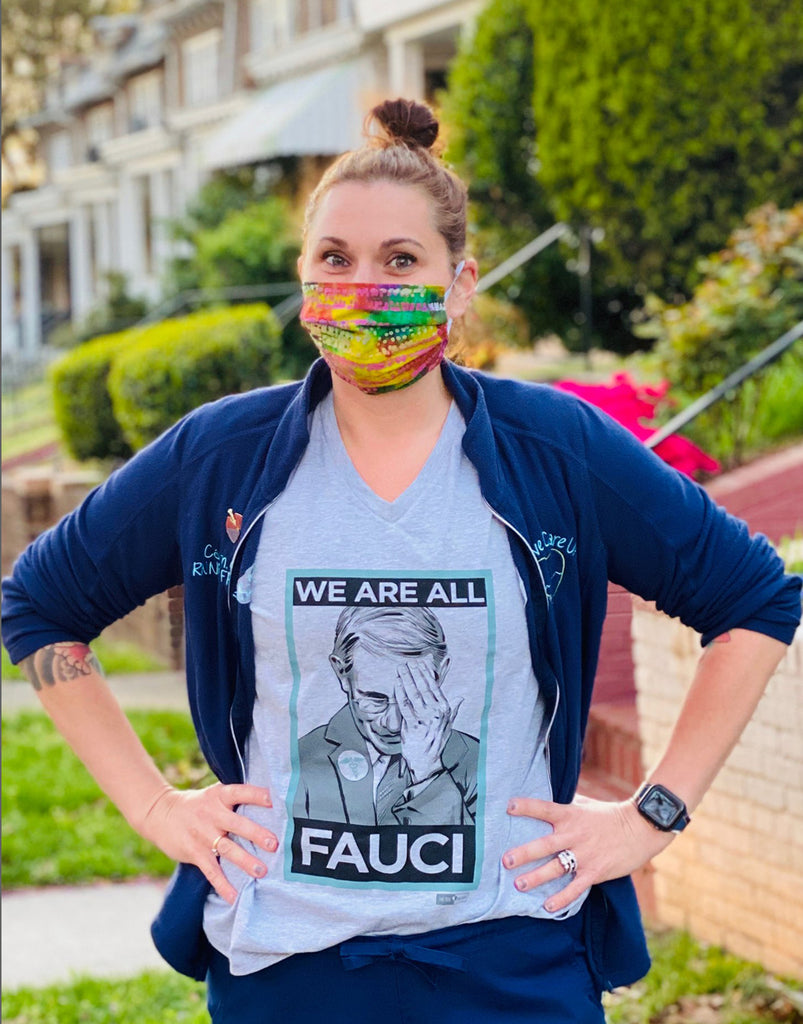 We Are All Fauci - Women's Relaxed V-Neck Tee