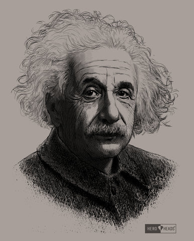 Albert Einstein - Men's Crew Tee