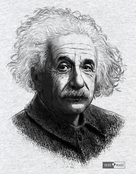 Albert Einstein - Unisex Adult 3/4 Baseball Tee