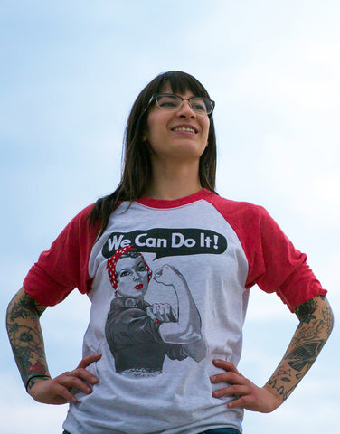 Rosie the Riveter - Unisex Adult 3/4 Baseball Tee