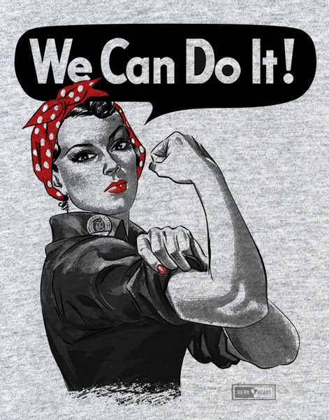 Rosie the Riveter - Unisex Adult 3/4 Baseball Tees