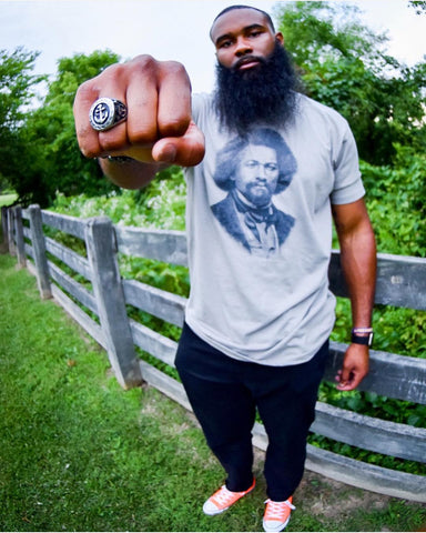 Frederick Douglass - Men's crew t-shirts