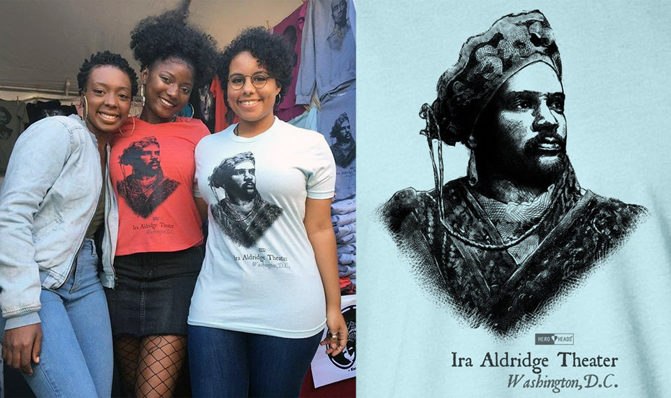 Hero Heads Ira Aldridge shirts and sweatshirts