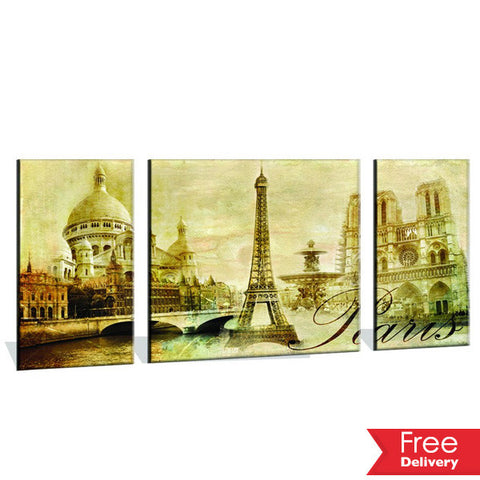 120CM x 60CM Monochrome Paris Canvas Print For R279.99 Including Delivery