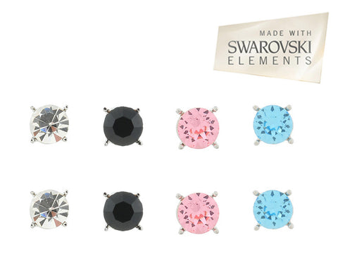 Two For One: Set Of 4 Swarovski Elements 6mm Stud Earrings For R279.99 Including Delivery