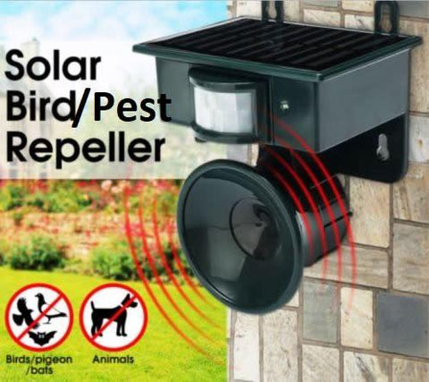 Solar Powered Pest Repeller with PIR Motion Sensor