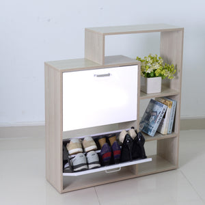 Two Door Shoe Cabinet With Storage Shelf