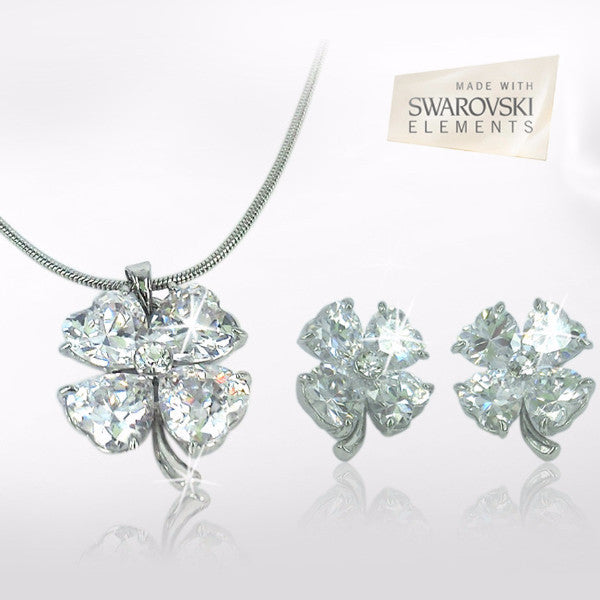 4 Leafed Clover Swarovski Jewellery Set for R269.99