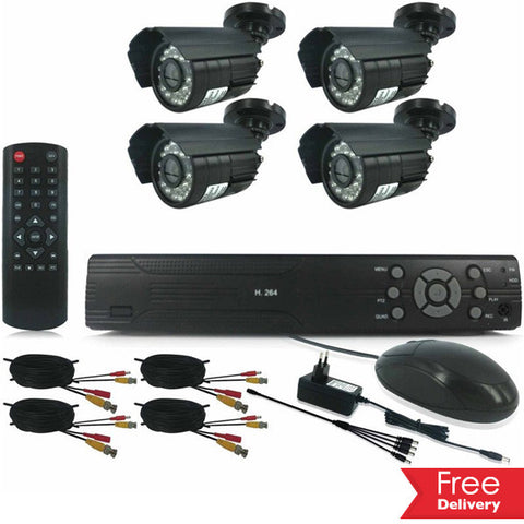 4 Or 8 Channel HDMI DIY CCTV Kit With Internet & 3 G Phone Viewing From R1479.99 Including Delivery