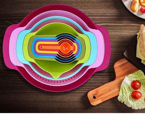 Rainbow nesting bowls (10pc)