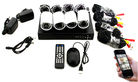 AHD 8-Channel Home Recording CCTV Security System With 5G Viewing