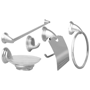 Zinc Alloy 5 Piece Bathroom Set