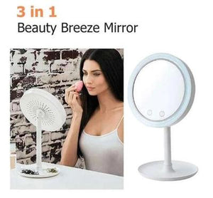 Beauty Breeze Mirror Mirror with Fan and Light
