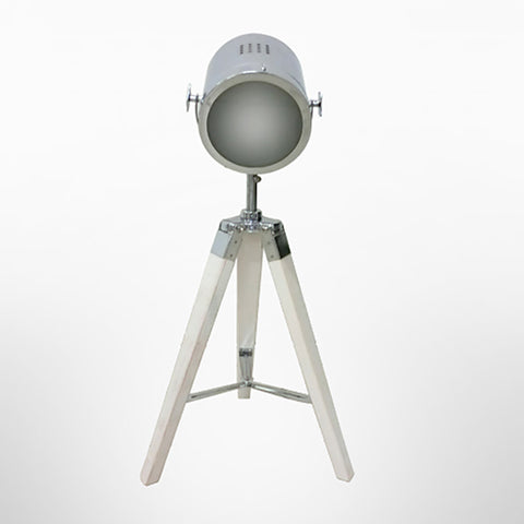 White Tripod Spotlight Lamp