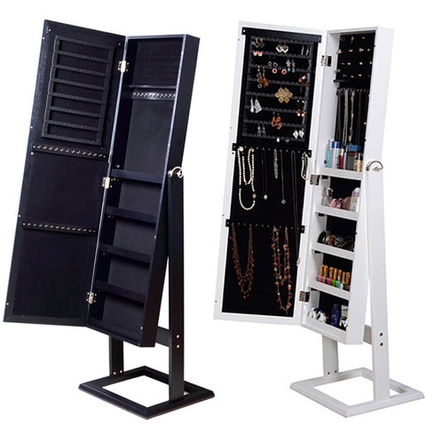 Combo Deal : Full Length Dressing Jewellery Cabinet with Mirror & Wall Mounted Mirrored Key / Jewellery Cabinet for R999.99