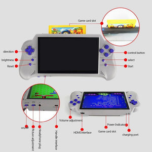 Handheld Game Console 7 inch Color Screen HD out with 121 Classic Game 2 Wireless Gamepad