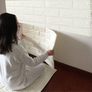 3D Brick Wall Foam Stickers